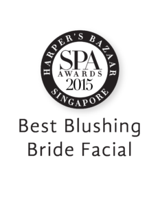 Erabelle Best Blushing Bride Facial 2015 award from Harper's Bazaar