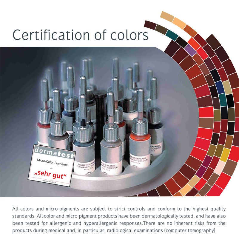 Erabelle 2006 Milestone certification of colors