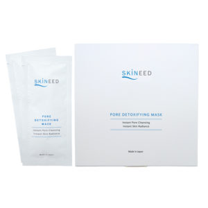 Erabelle Skineed Pore Detoxifying Mask for instant pore cleansing and skin radiance. Made in Japan