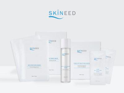 A range of Erabelle's new Skineed product ranging from skin refining mask, anti photoaging cream and pore detoxifying mask
